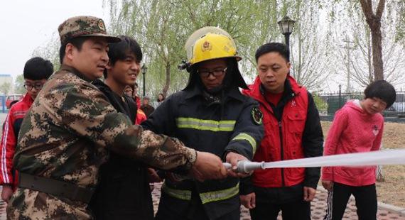 徐水区希望助学协会组织受助学生开展消防安全教育暨拓展训练活动
