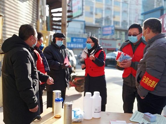 """【新时代文明实践】唐县志愿者的战""""疫""""风采"""