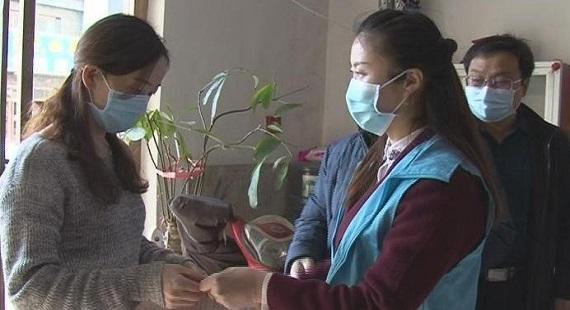 涞水县组织志愿者走访慰问支援武汉医务人员家属