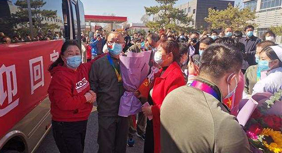 欢迎回家!涞源县喜迎支援武汉医务人员平安凯旋