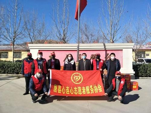 """【唐县战""""疫""""·志愿者在行动】团县委携手心连心志愿者协会为抗疫一线人员送去防疫物资"""