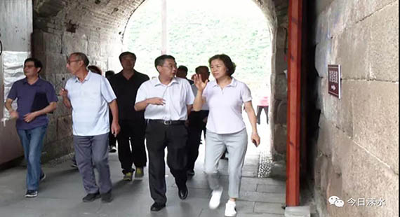 闫立英带领调研组到涞水县专题调研长城保护工作