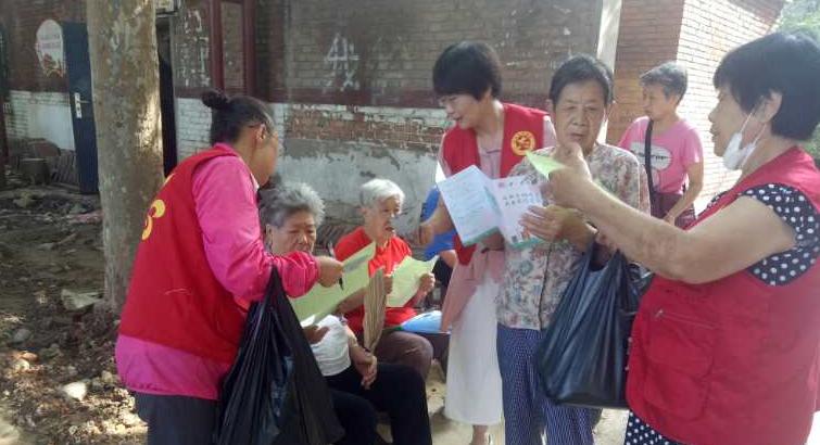 助力创城,联盟街道金玉兰社区开展志愿服务活动