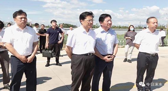 北京市国资委党委书记、主任张贵林带队到涞水县调研
