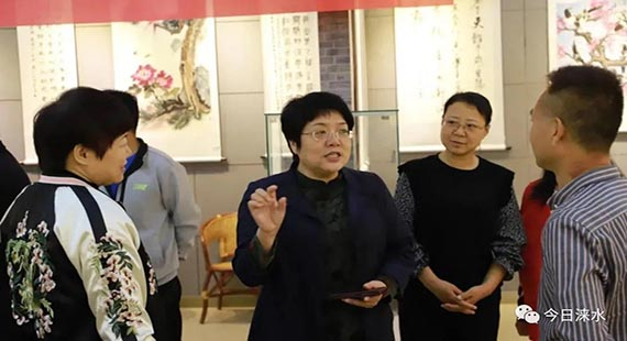 """新中国成立71周年——涞水县举办 """"时代新歌·美丽中国""""书画展"""