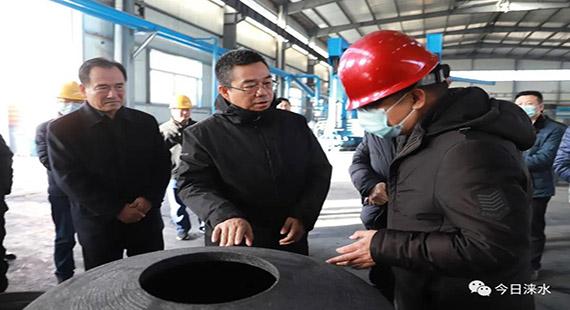 涞水县委副书记、代理县长黄伟到重点企业调研
