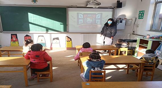 """涞水县胡家庄幼儿园开展""""科学防疫,从我做起""""主题班会"""
