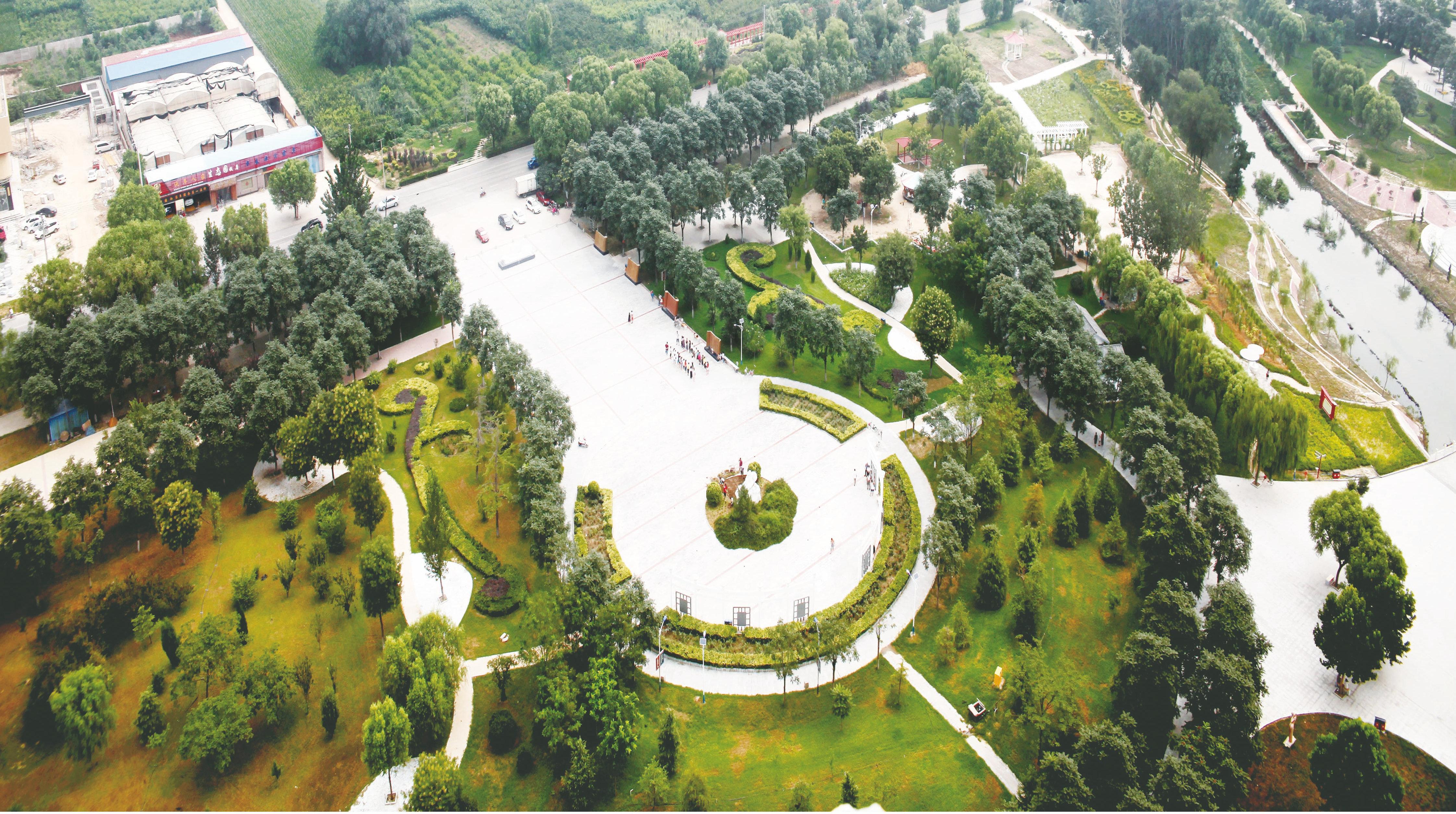范蠡文化公园鸟瞰图