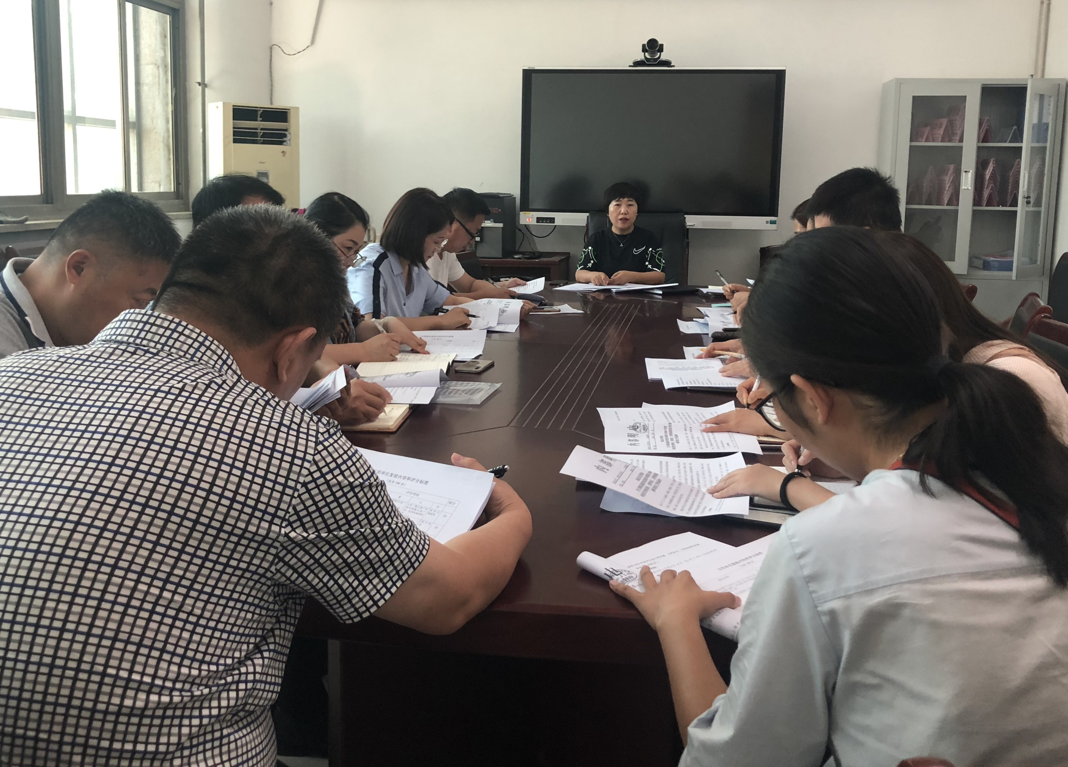 唐县对文明村镇、文明单位(社区)、文明校园进行培训