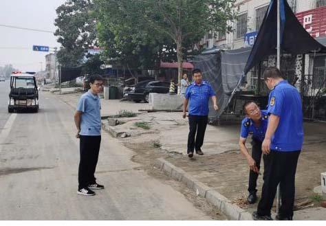 助力文明城市创建唐县乡镇在行动