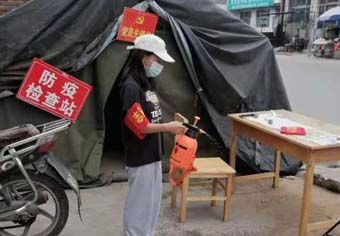 唐县镇村级党组织多措并举 筑牢疫情防控屏障