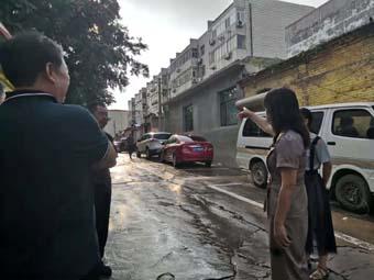 唐县县委常委、宣传部长韩兰就创建文明城市工作进行督导检查